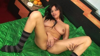 Smoking hot Latina plays in her holes - Latin-Hot