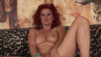 Redhead babe squirts breastmilk while masturbating - CzechSuperStars