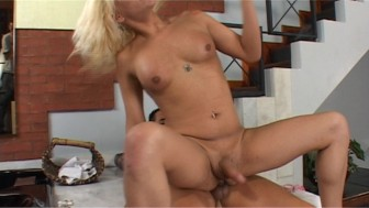 Tranny has some fun with two guys - Latin-Hot