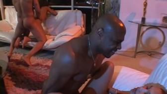 Tight black ass full of hard black cock