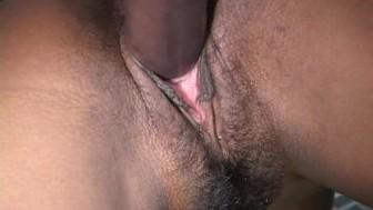Black pussy on a big black dick