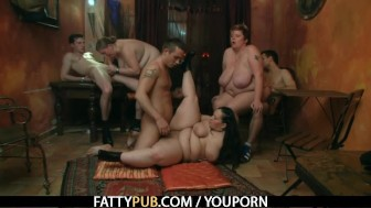 He bangs her fat pussy hard