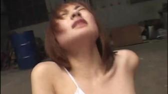 Japanese chick masturbating