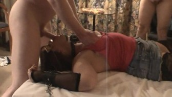 Slutwife Creampie Gangbang at the hotel room