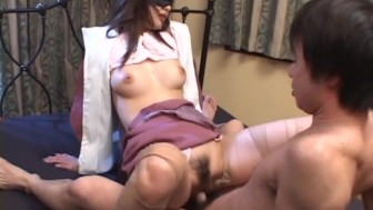 Uncensored Japanese Amateur Sex: Ripped Pantyhose Bondage Sex pt 3
