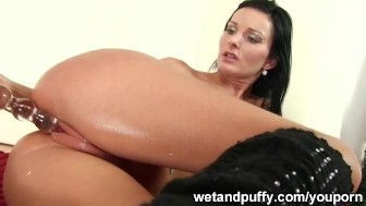 Her pussy is lubed and fingered