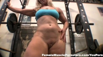 Blond Working in the Gym