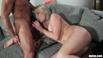 HOT French blonde Lucy Heart is fucked hard in the ass