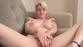 Making Her Hairy Pussy All Wet and Sticky