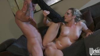 Stunning blonde GF surprises her man with an amazing BJ