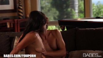 Busty beauty Adrianna Luna seduces her man for passionate sex