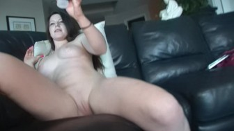 Busty Brunette Plays With Her Vag - DreamGirls
