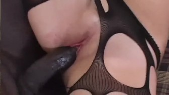 Teen brunette loves some big black cock - Blackout Pictures