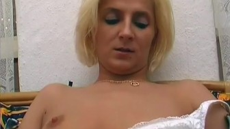 Euro Blonde Plays With Her Pussy - Sascha Production