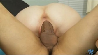 Thick cock fucks Alice March's petite wet pussy