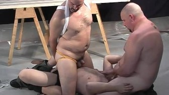Construction guys have fun at the office - Pig Daddy Productions