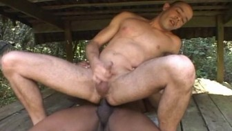 Muscle Men Hard Sex With Cumshot at the Jungle