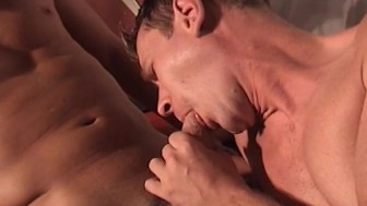 Four men giving each other head- Blue Alley Studios