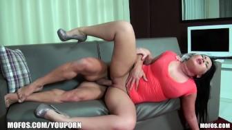Leggy Russian MILF is slammed hard and deep in her ass