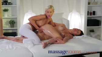 Massage Rooms Young horny lesbians enjoy dirty sex and a big orgasm