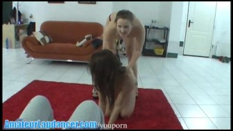 Wild czech teens doing gorgeous lapdance