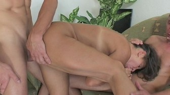 Step Mama Rewards Two Boys' Hard Work With Hot DP Anal Action!!