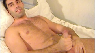 esteban a spanish hunk guy get wanked his huge cock by me!