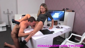 FemaleAgent Smoking hot new female agent seduces stud