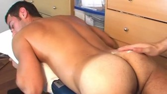 A french swimmer guy serviced in his 1srt porn video: get wanked his huge cock!