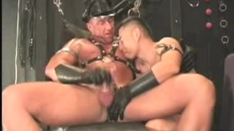 Smoking Gay Daddy and Leather boy