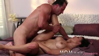 MOM Brunette MILF loves his cock
