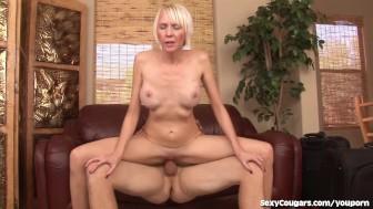 Hot Blonde MILF Loves Fucking Younger Men