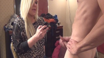CFNM - perv blasts cum on girls shirt