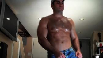 Sweaty Jock shoots cum on your face!