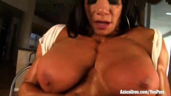 Aziani Iron Marina Lopez female bodybuilder nude