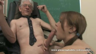 Young Slut Will Do Anything To Pass The Class
