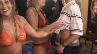 Hot Amateur Oil Wrestling Girls