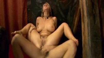Stretching Her Ass And Dropping Jizz In Her Mouth