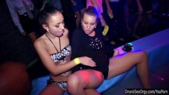 Party lesbians have fun in public