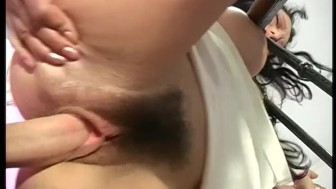 Hairy pussy french slut gets her pussy and ass pounded