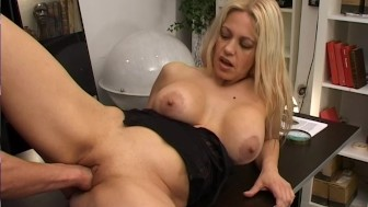 Amazing blonde with big tits gets fisted and her ass fucked