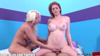 ImmoralLive Big boobs newbie sluts in a porn live show