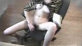 Housewife gets caught masturbating on hidden camera