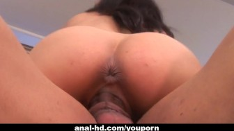 Busty babe Nadia Styles gets her ass drilled by black guy