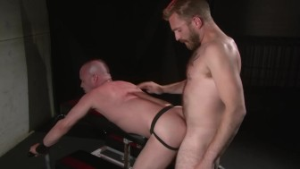 Barebacked in leather boots - Factory Video