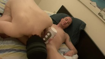 Fucking pocket pussy before barebacking - Factory Video
