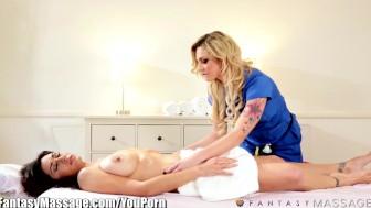 AGM Bailey Blue and MILF Erotic Lesbian Massage