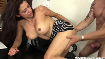 Slutty MILF Boss Seduces New Hire