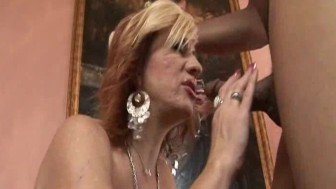 Black cock in tight MILF pussy