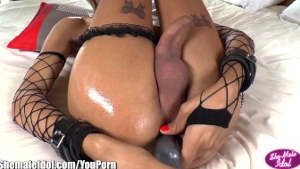 ShemaleIdol Stunning Tgirl With Ass Toys